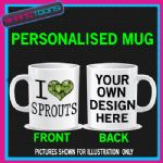 I LOVE HEART SPROUTS COFFEE MUG GIFT